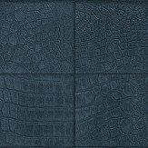 Albany Crocodile Brick Effect Navy Wallpaper
