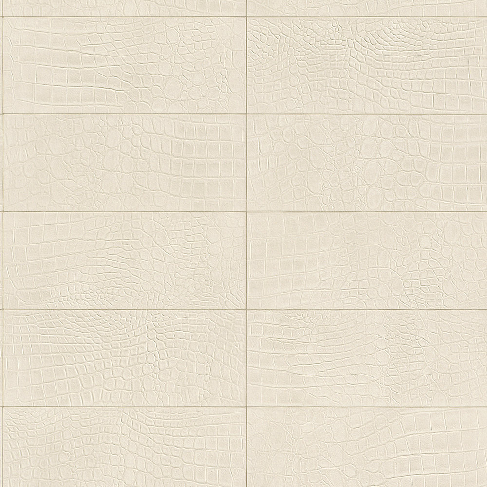 Albany Crocodile Brick Effect Pale Cream Wallpaper - Product code: 576153