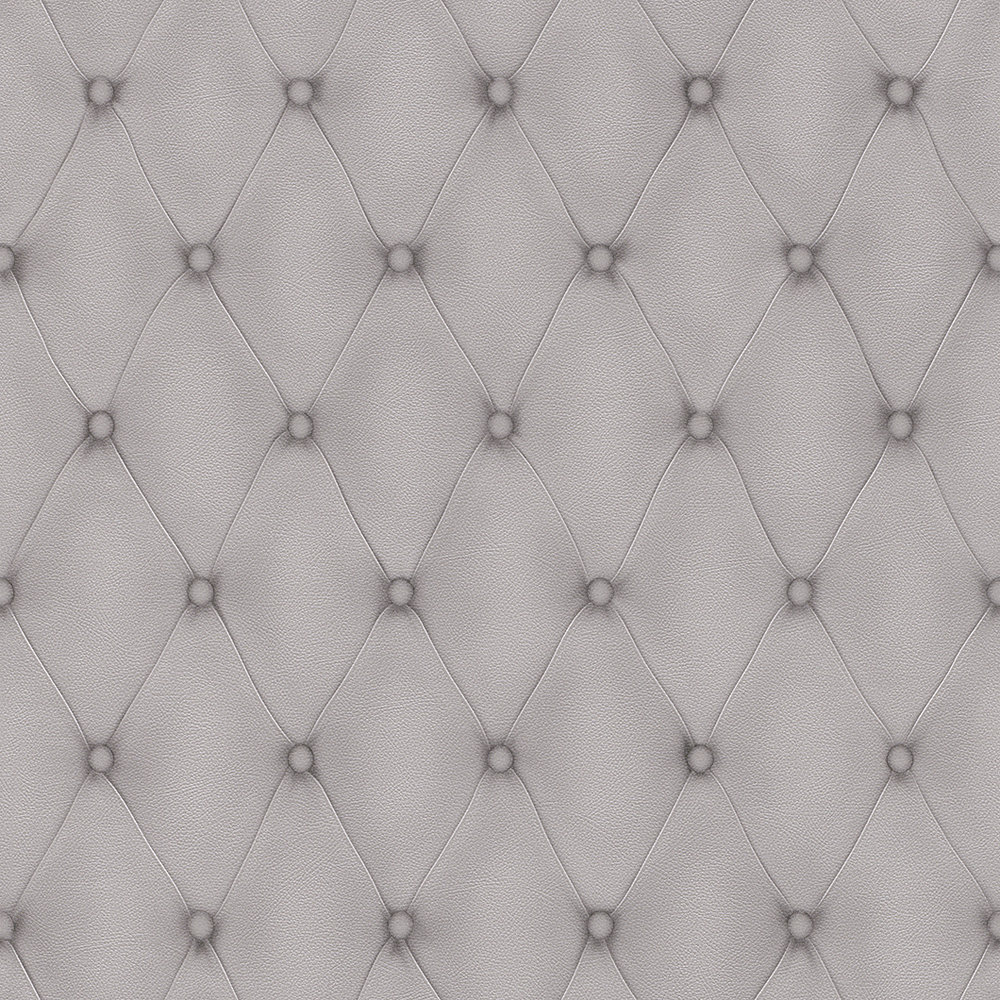 Albany Diamond Button Leather Grey Wallpaper - Product code: 576221