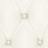 Albany Diamond Button Leather White Wallpaper