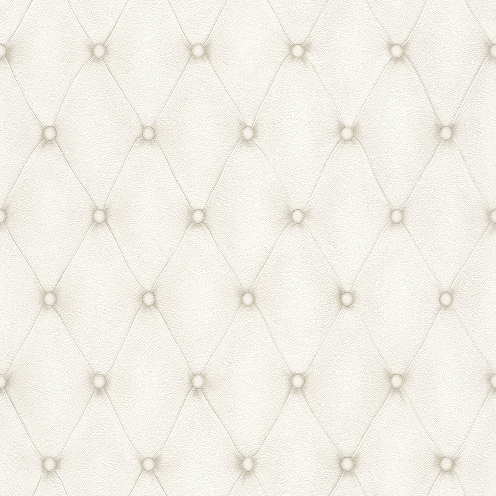 Albany Diamond Button Leather White Wallpaper - Product code: 576269