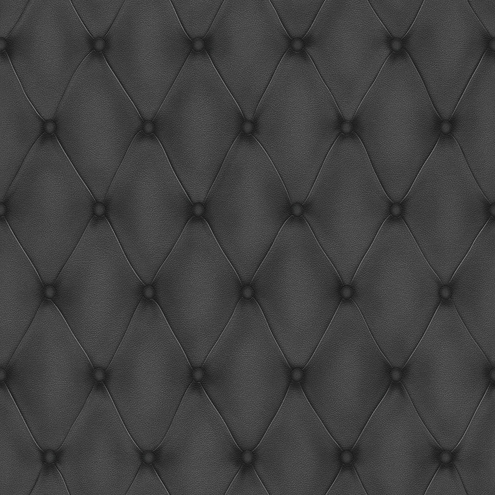 Albany Diamond Button Leather Black Wallpaper - Product code: 576276