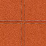 Albany Stitched Leather Orange Wallpaper