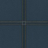 Albany Stitched Leather Navy Wallpaper