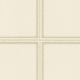 Albany Stitched Leather Pale Cream Wallpaper - Product code: 576450