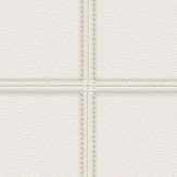 Albany Stitched Leather White Wallpaper - Product code: 576467