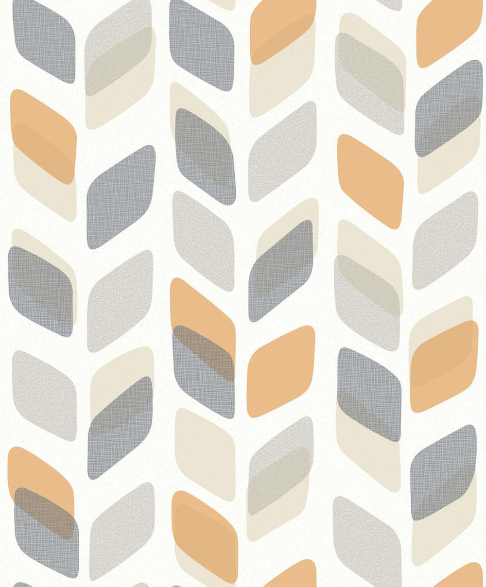 Geometric trail by albany orange wallpaper direct - Papier peint retro vintage ...