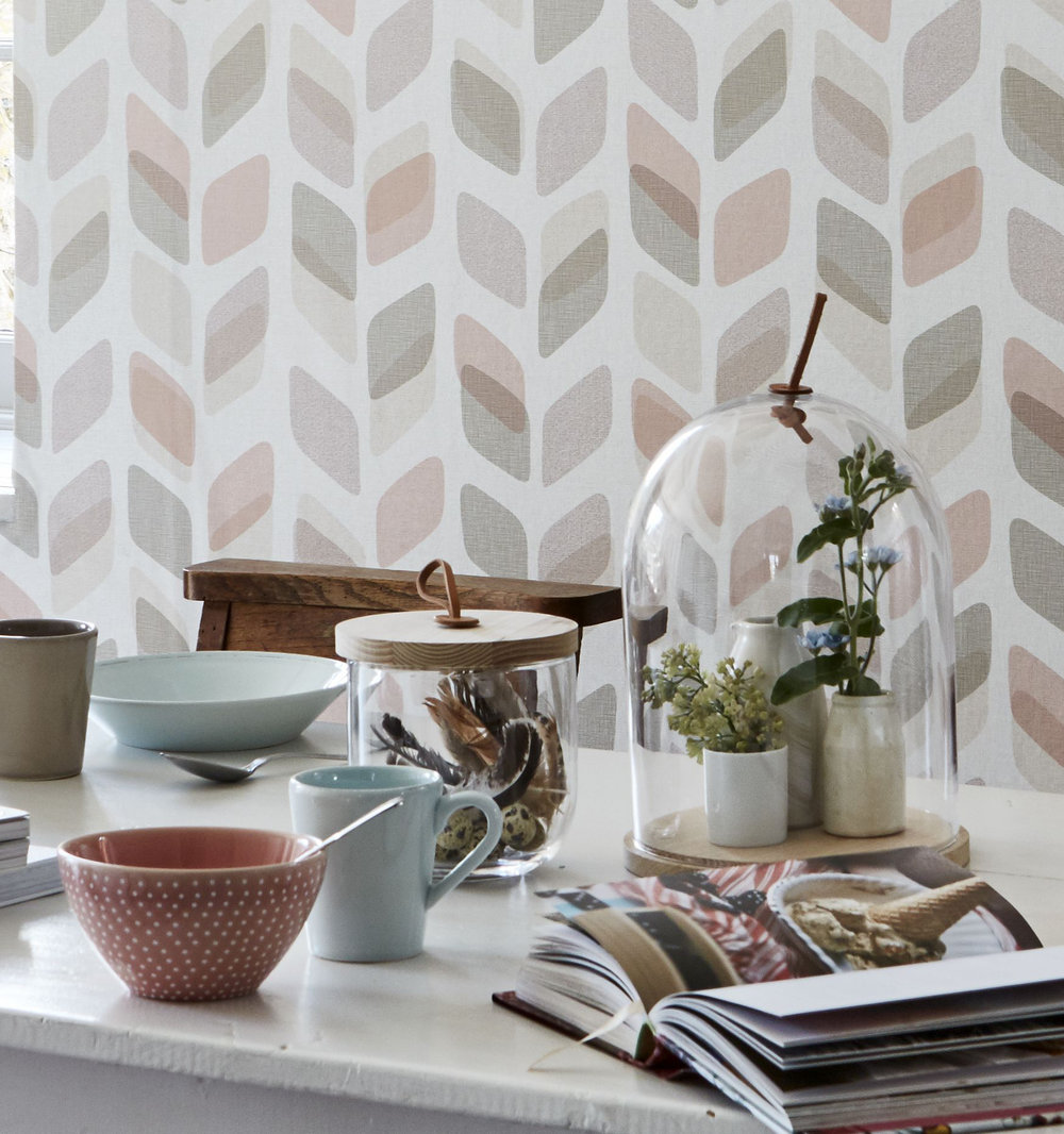 Albany Geometric Trail Pink Wallpaper - Product code: UN3004