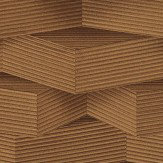 Albany Geometric Blocks Chestnut Wallpaper