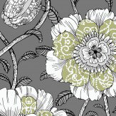 Vallila Muuan Grey / Green Wallpaper
