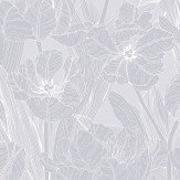 Vallila Jolie Grey Wallpaper