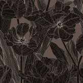 Vallila Jolie Dark Brown Wallpaper
