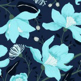 Vallila Clematis Blue  Wallpaper