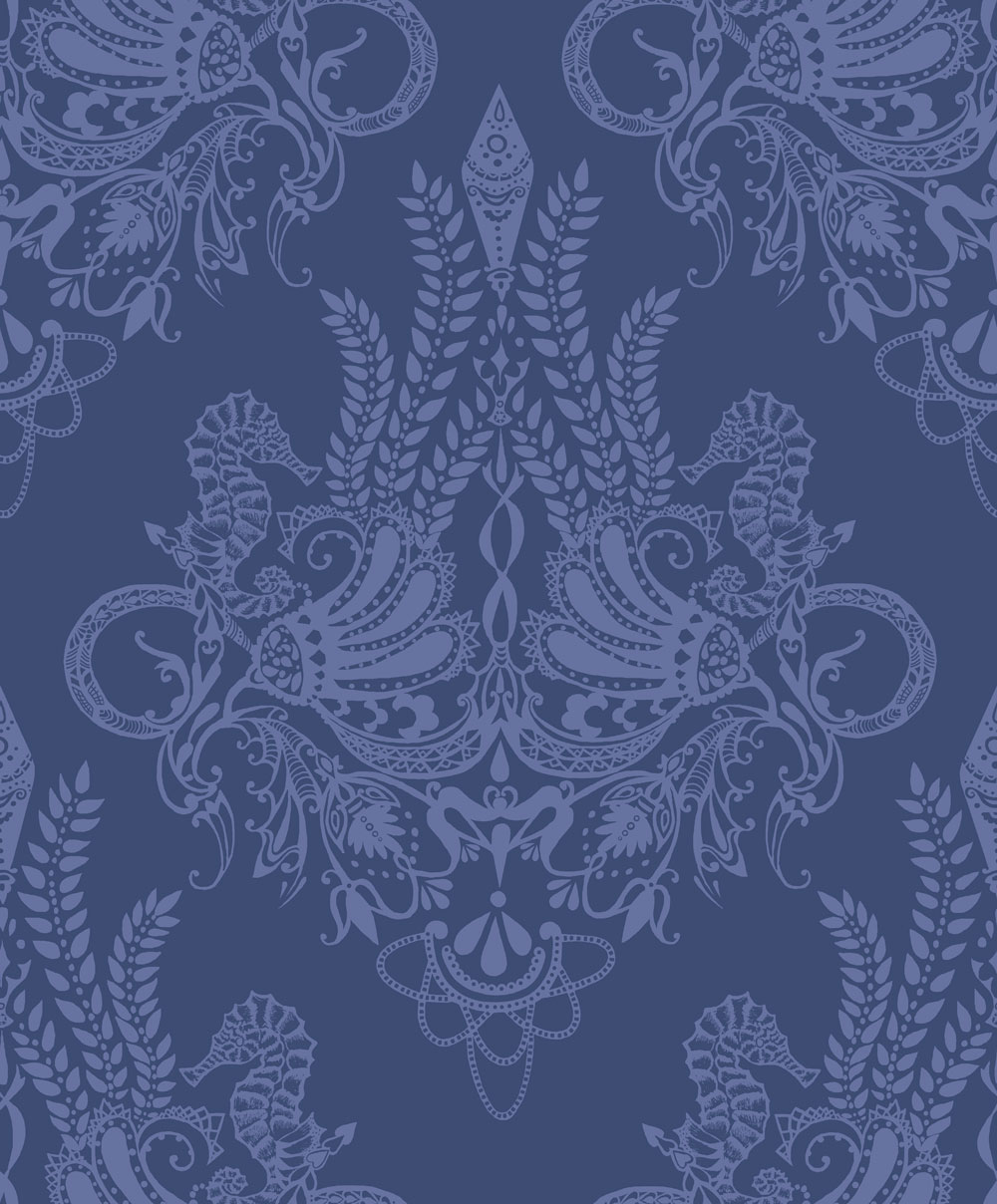 Vallila Syvameri Blue  Wallpaper - Product code: 5144-2