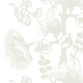 Vallila Silkkisuukko White Wallpaper - Product code: 5146-2