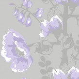 Vallila Silkkisuukko Grey / Lilac Wallpaper - Product code: 5146-3