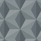 Albany Glitter Geometric Grey and Black Wallpaper