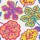 Sanderson Jewel Leaves Brights Fabric