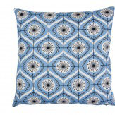 Layla Faye Bursts Cushion Brilliant Blue