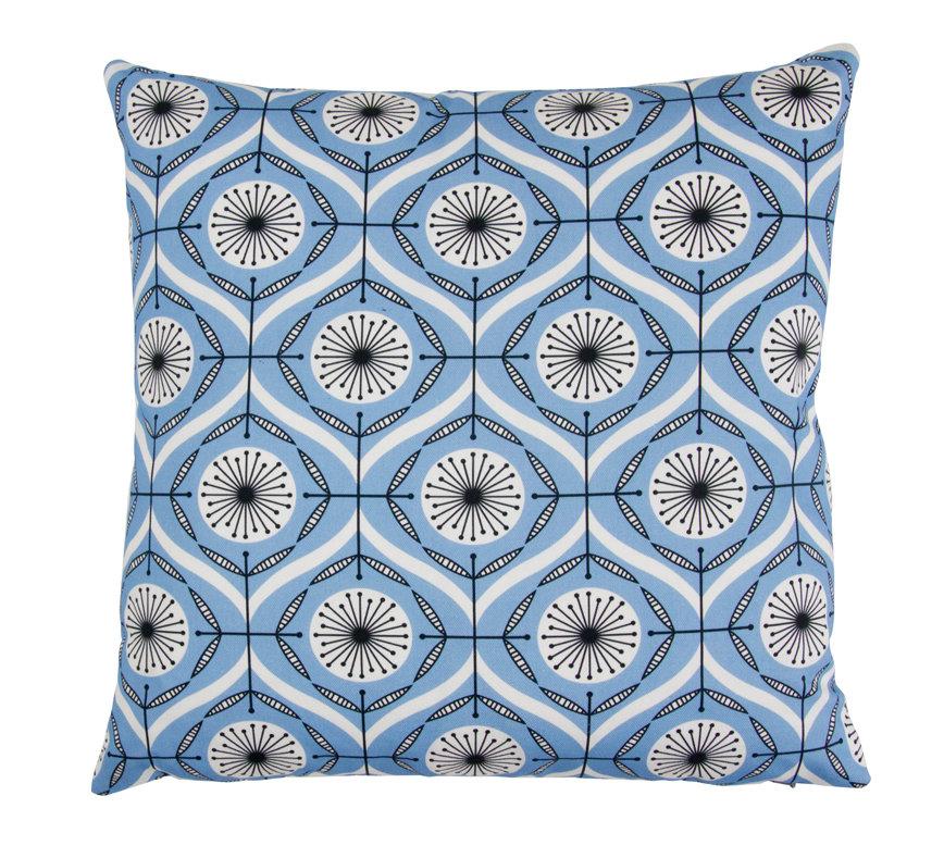 Bursts Cushion - Brilliant Blue - by Layla Faye