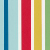 Scion Jelly Tot Stripe Pimento, Grass and Denim Wallpaper - Product code: 111261