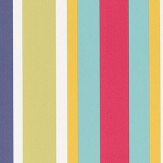 Scion Jelly Tot Stripe Poppy, Pistachio and Tangerine Wallpaper