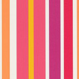Scion Jelly Tot Stripe Raspberry, Blancmange and Rhubarb Wallpaper