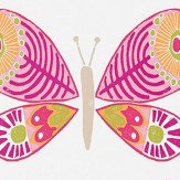 Scion Madame Butterfly Cerise, Pistachio and Chalk Wallpaper