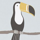 Scion Terry Toucan Tangerine, Charcoal and Maize Wallpaper - Product code: 111270