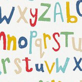 Scion Letters Play Pistachio, Pimento and Denim Wallpaper - Product code: 111279