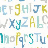 Scion Letters Play Citrus, Lagoon and Sky Wallpaper - Product code: 111281