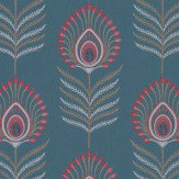 Jane Churchill Sula Teal / Pink Wallpaper