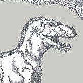 Kerry Caffyn Dotty Dinosaurs Grey Wallpaper