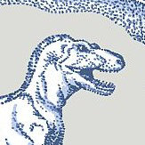 Kerry Caffyn Dotty Dinosaurs Blue Wallpaper