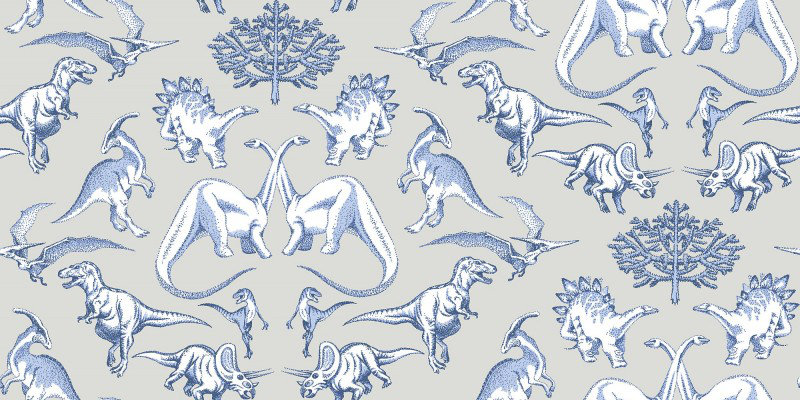 Image of Kerry Caffyn Wallpapers Dotty Dinosaurs, KC2009