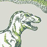Kerry Caffyn Dotty Dinosaurs Green Wallpaper