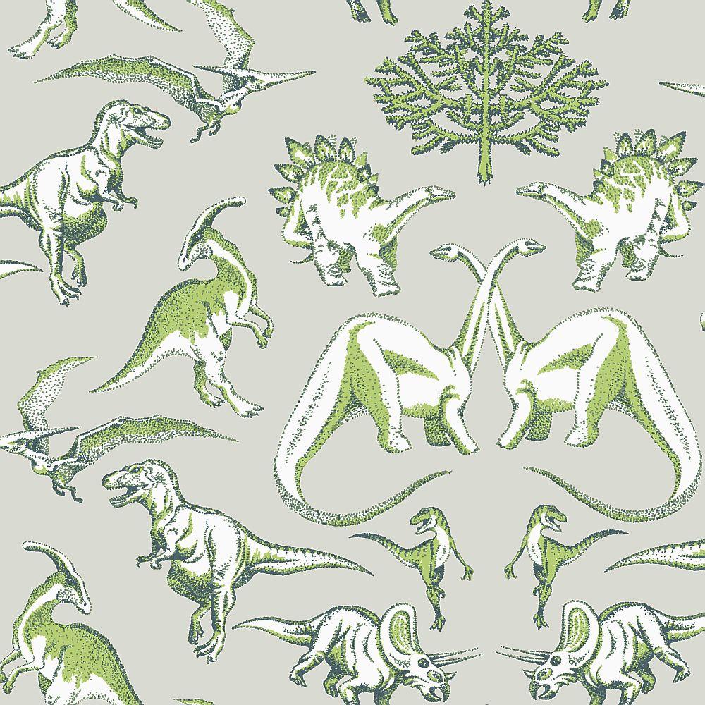 Kerry Caffyn Dotty Dinosaurs Green Wallpaper - Product code: KC2010