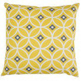 Layla Faye Daisy Chain Cushion Yellow Mellow