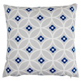 Layla Faye Daisy Chain Cushion Midnight Blue & Grey