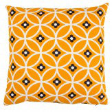 Layla Faye Daisy Chain Cushion Tangerine & Grey