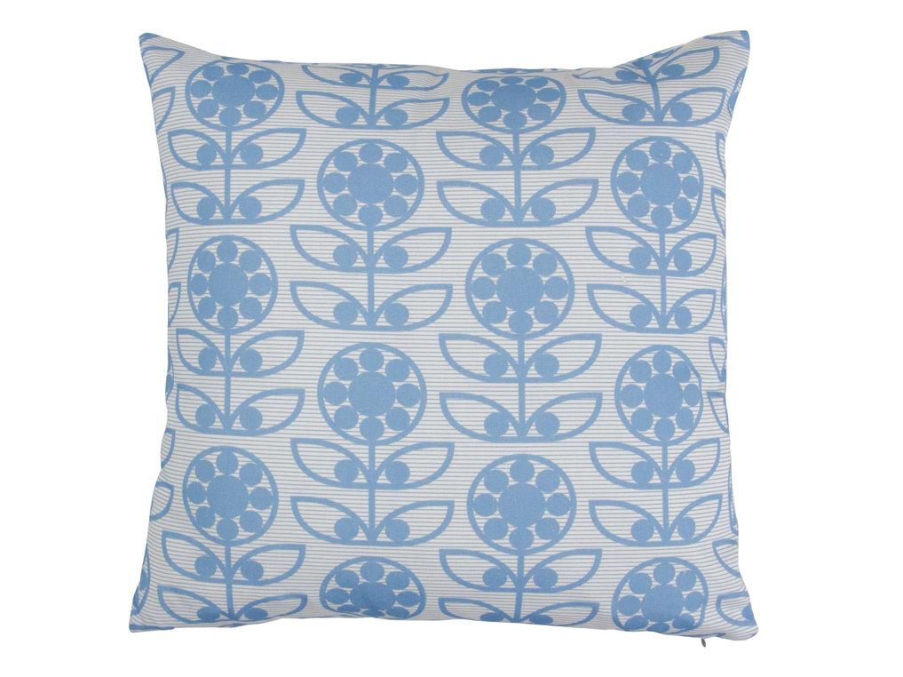 Layla Faye Dotty Flower Cushion Powder Blue - Product code: LFC-DTPB010
