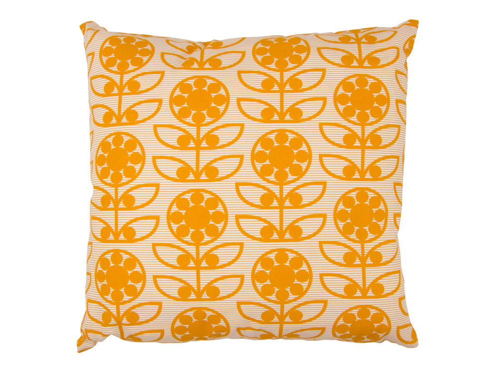 Layla Faye Dotty Flower Cushion Tangerine - Product code: LFC-DTT011