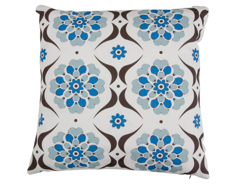 Layla Faye Flower Swirl Cushion Blue Hue - Product code: LFC-FSB013