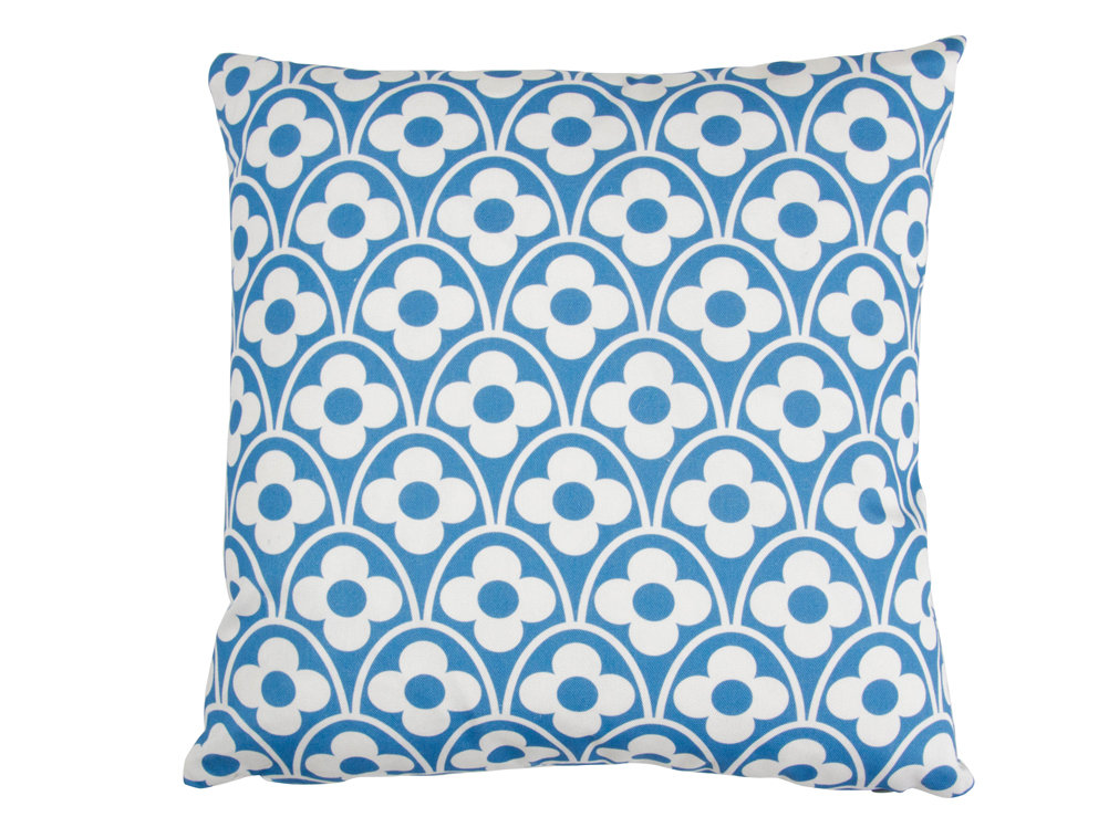 Flower Waves Cushion - Powder Blue - by Layla Faye
