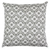 Layla Faye Flower Waves Cushion Cool Grey