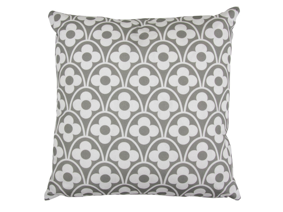 Flower Waves Cushion - Cool Grey - by Layla Faye