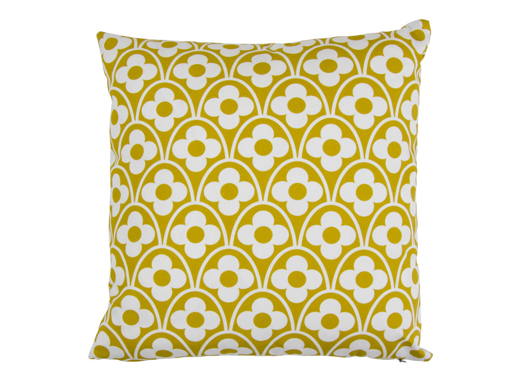 Flower Waves Cushion - Olive - by Layla Faye