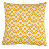Layla Faye Flower Waves Cushion Mustard