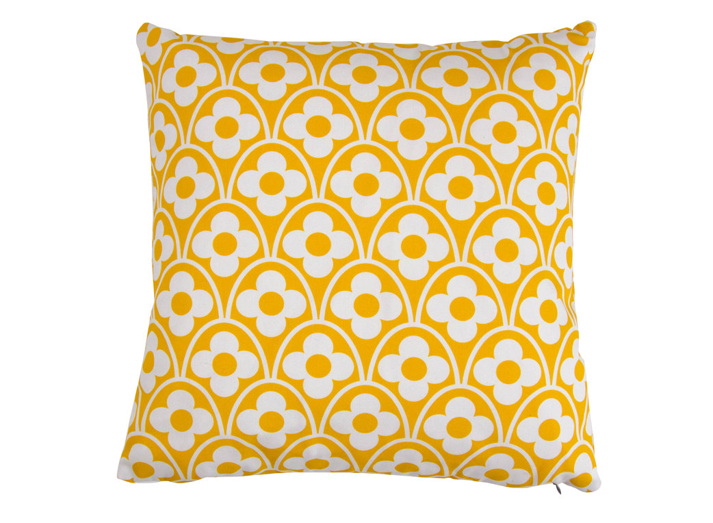 Layla Faye Flower Waves Cushion Mustard - Product code: LFC-FWM017