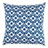 Layla Faye Flower Waves Cushion Navy